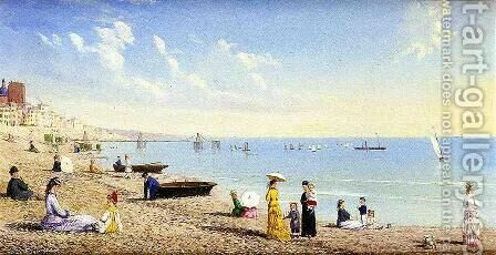 At the Beach by Conrad Wise Chapman - Reproduction Oil Painting