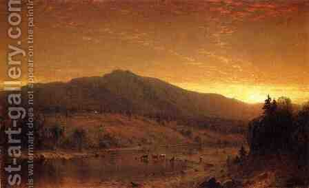 Sunset by Sanford Robinson Gifford - Reproduction Oil Painting