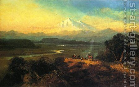 Mount Shasta, California by Andrew Melrose - Reproduction Oil Painting