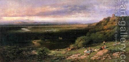 Valley of the Hackensack from the Estate of L. Becker, Esq, Union City, New Jersey by Andrew Melrose - Reproduction Oil Painting