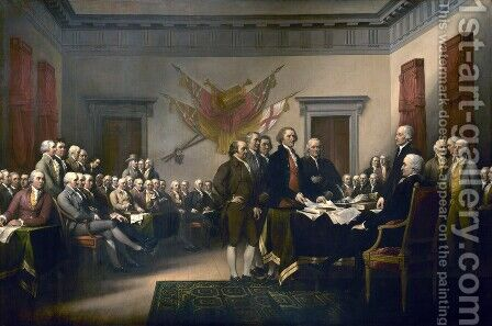 The Declaration of Independence by John Trumbull - Reproduction Oil Painting
