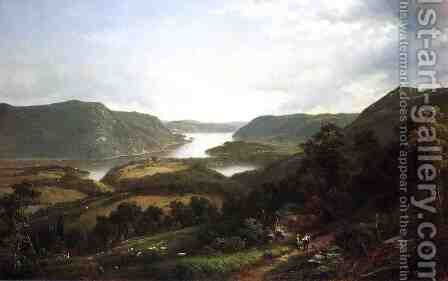 The Hudson Riiver from Fort Montgomery by David Johnson - Reproduction Oil Painting