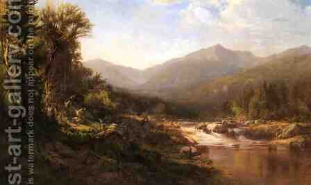 Landscape with Mountains and Stream by Alexander Helwig Wyant - Reproduction Oil Painting