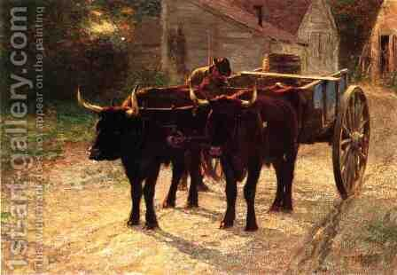 The Ox Cart by Edward Henry Potthast - Reproduction Oil Painting