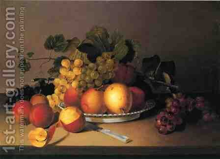 Fruit in a Basket by James Peale - Reproduction Oil Painting