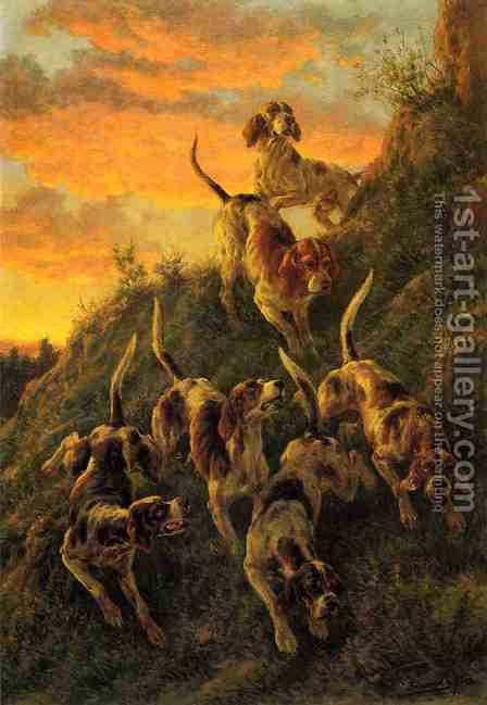The Trail of the Cougar by Edmund Henry Osthaus - Reproduction Oil Painting