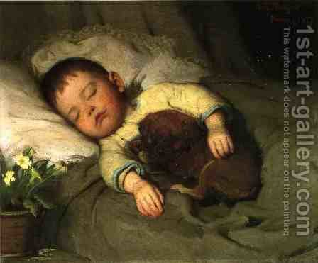 Sleep by Abbott Handerson Thayer - Reproduction Oil Painting