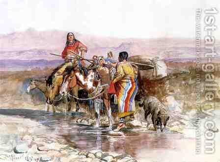 Thirsty by Charles Marion Russell - Reproduction Oil Painting