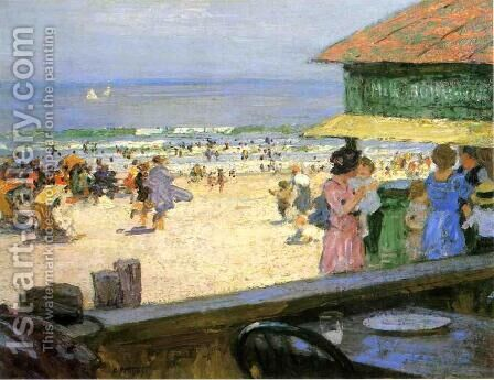 Beach Scene I by Edward Henry Potthast - Reproduction Oil Painting