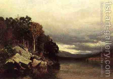 Lake George by Alexander Helwig Wyant - Reproduction Oil Painting