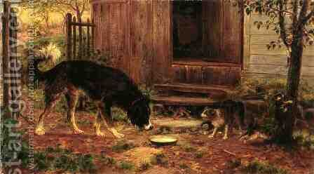 Old Enemies by Edward Lamson Henry - Reproduction Oil Painting