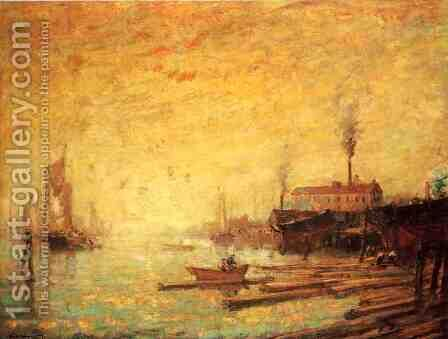 Harbor at Sunset, Moank, Connecticut by Henry Ward Ranger - Reproduction Oil Painting