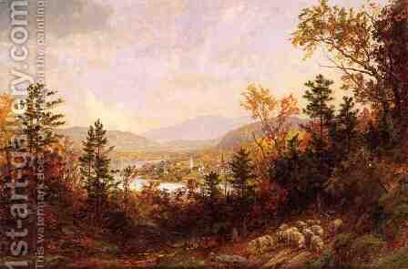 Autumn on the Hudson by Jasper Francis Cropsey - Reproduction Oil Painting