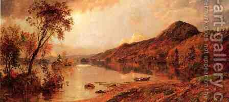 Autumn by the Lake by Jasper Francis Cropsey - Reproduction Oil Painting