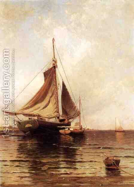 Oyster Boats by Alfred Thompson Bricher - Reproduction Oil Painting