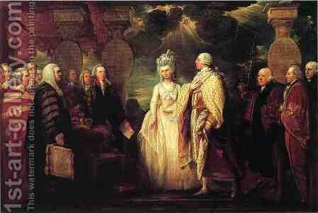 His Majesty George III Resuming Power by Benjamin West - Reproduction Oil Painting