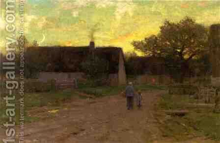 End of the Day by Dwight William Tryon - Reproduction Oil Painting