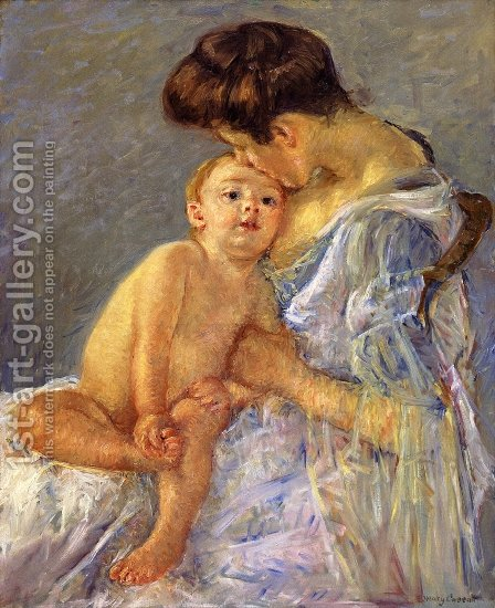 Motherhood II by Mary Cassatt - Reproduction Oil Painting