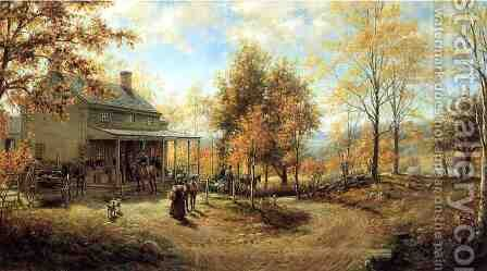 An October Day by Edward Lamson Henry - Reproduction Oil Painting