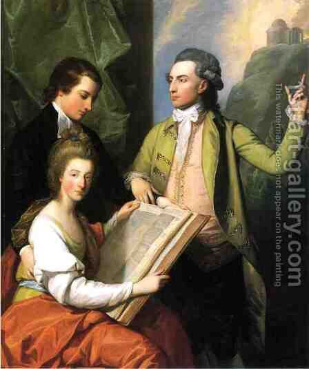 Portrait of the Drummond Family by Benjamin West - Reproduction Oil Painting