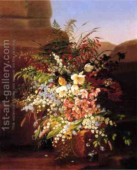 Floral Still Life by Adelheid Dietrich - Reproduction Oil Painting
