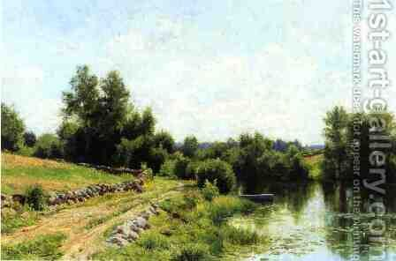 Path Along the River by Hugh Bolton Jones - Reproduction Oil Painting