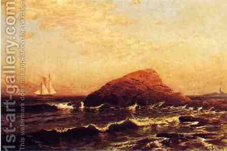 The Lion Rock, Newport by Alfred Thompson Bricher - Reproduction Oil Painting