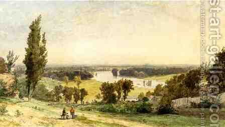 Richmond Hill in 1862 by Jasper Francis Cropsey - Reproduction Oil Painting