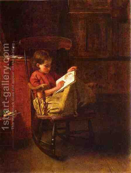 The Boston Rocker by Eastman Johnson - Reproduction Oil Painting