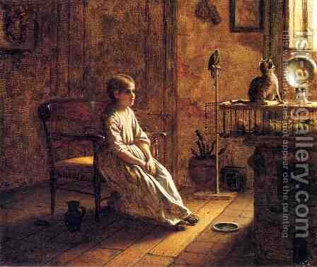 A Child's Menagerie by Eastman Johnson - Reproduction Oil Painting