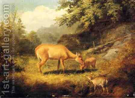 Maternal Affection by Arthur Fitzwilliam Tait - Reproduction Oil Painting
