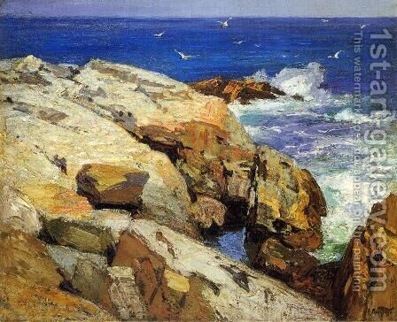 The Maine Coast by Edward Henry Potthast - Reproduction Oil Painting