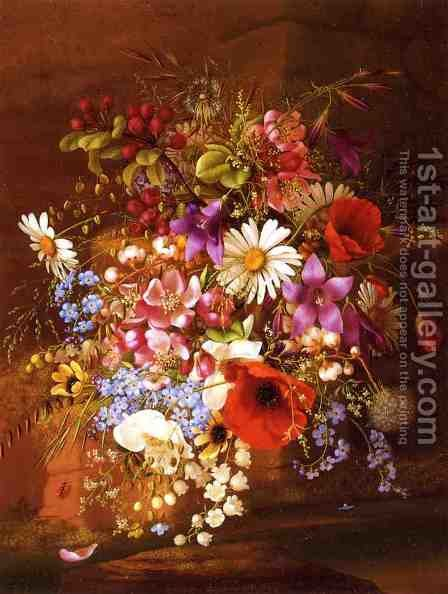 Floral Still Life III by Adelheid Dietrich - Reproduction Oil Painting
