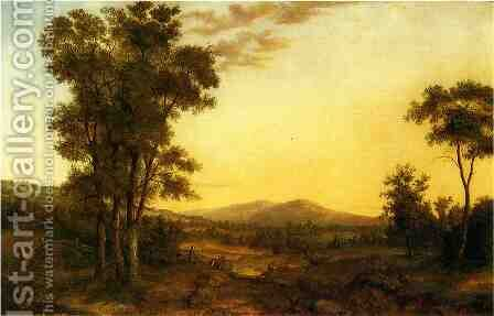 Hudson River Landscape by Asher Brown Durand - Reproduction Oil Painting