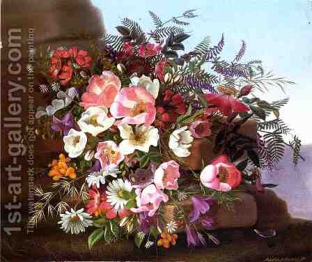 Wildflowers by Adelheid Dietrich - Reproduction Oil Painting