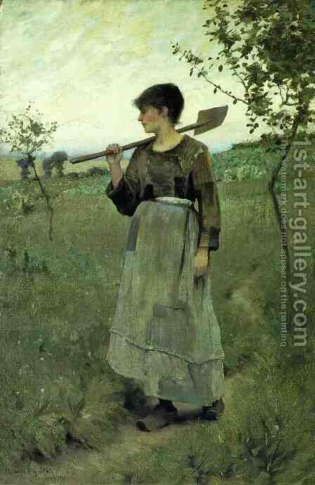 Home From the Fields by Charles Sprague Pearce - Reproduction Oil Painting