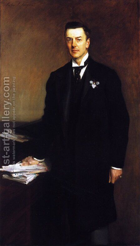 The Right Honourable Joseph Chamberlain by Sargent - Reproduction Oil Painting