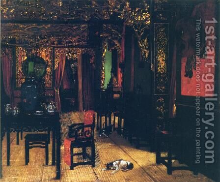 Chinese Interior by Henry Alexander - Reproduction Oil Painting