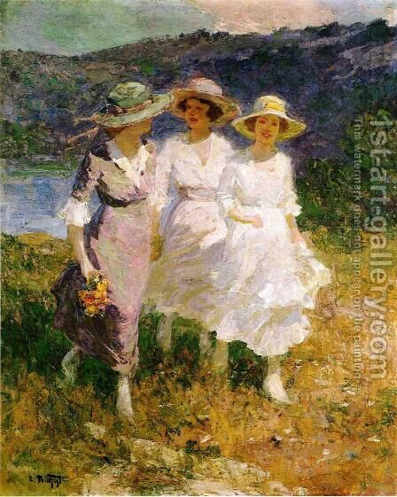Walking in the Hills by Edward Henry Potthast - Reproduction Oil Painting