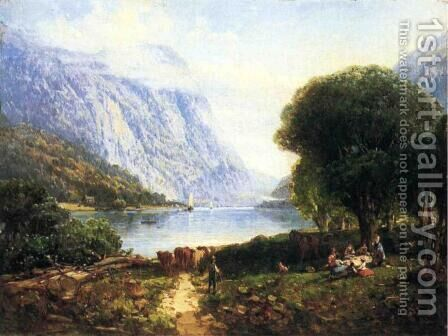The Deleware Water Gap by Andrew Melrose - Reproduction Oil Painting
