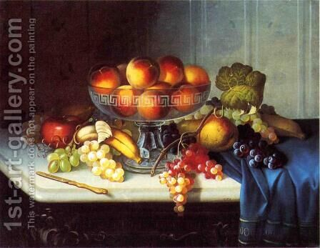 Still Life, Fruit and Knife by Carducius Plantagenet Ream - Reproduction Oil Painting