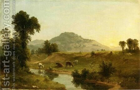 Pastoral Landscape by Asher Brown Durand - Reproduction Oil Painting