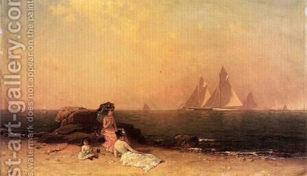 Afternoon at the Shore by Alfred Thompson Bricher - Reproduction Oil Painting