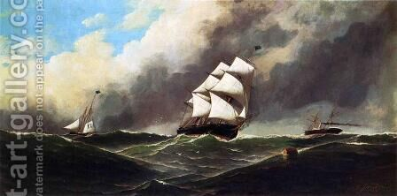 Stormy Seas by Antonio Nicolo Gasparo Jacobsen - Reproduction Oil Painting