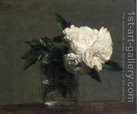 Roses 2 by Ignace Henri Jean Fantin-Latour - Reproduction Oil Painting