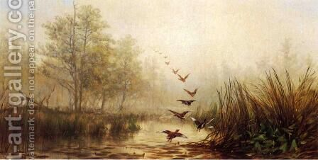 Hazy Morning by James McDougal Hart - Reproduction Oil Painting