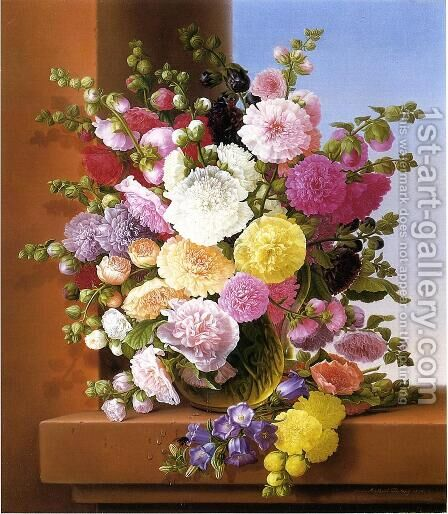 Still Life of Flowers by Adelheid Dietrich - Reproduction Oil Painting