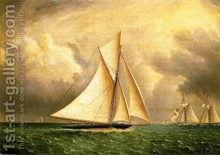 The Approaching Storm by James E. Buttersworth - Reproduction Oil Painting