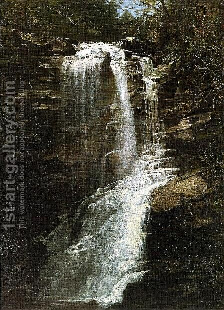 Waterfall by Homer Dodge Martin - Reproduction Oil Painting