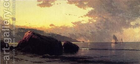 Sunset, Bailey Island by Alfred Thompson Bricher - Reproduction Oil Painting